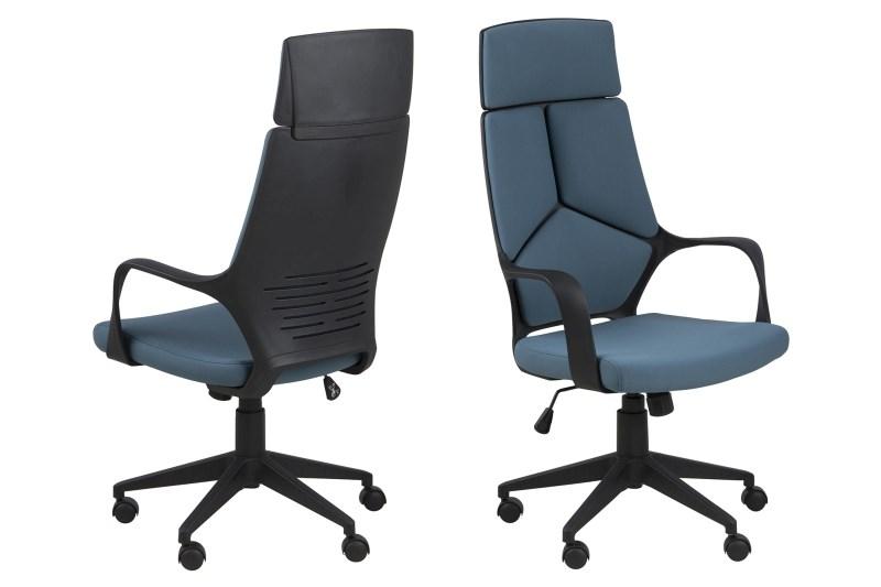 Bureaustoel Hub hoog – blauw